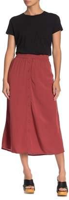 Vero Moda Solid Button Front Midi Skirt
