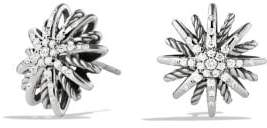 David Yurman Starburst Earrings With Diamonds, 16Mm