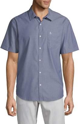 Original Penguin Men's Star-Print Chambray Button-Down Shirt