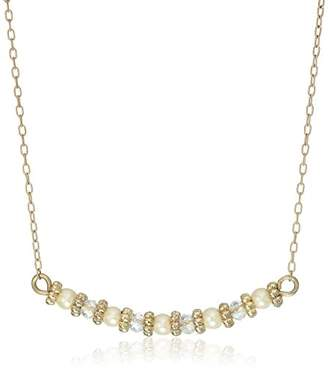 lonna & lilly Give A Little Love Worn Gold Beaded Pendant Necklace