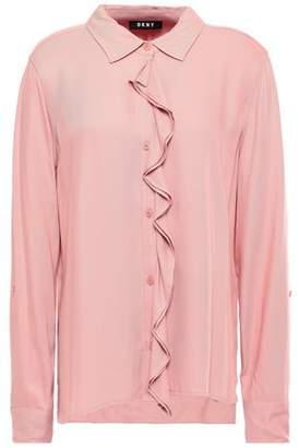DKNY Ruffled Twill Shirt