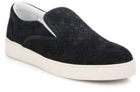 Bottega Veneta Dodger Intrecciato Slip-On Suede Sneakers