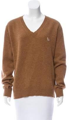 MAISON KITSUNÉ Wool V-Neck Sweater