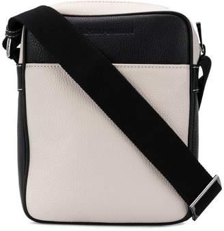 cbe1f4e7b4b1 Emporio Armani grained leather messenger bag