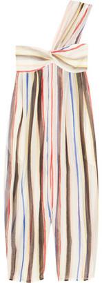 Marysia Venice Striped Cotton And Silk-Blend Jumpsuit $407 thestylecure.com