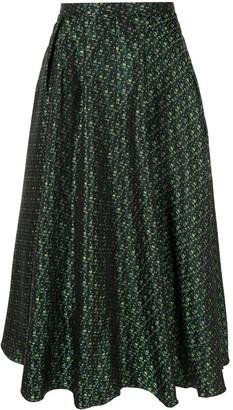 Rochas patterned midi skirt
