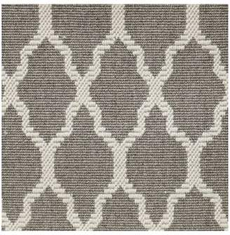 Pottery Barn Fibreworks®; Custom Tile Print Wool Rug - Gray/Ivory