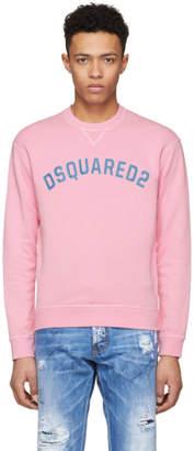 DSQUARED2 Pink Crack Logo Dan Sweatshirt