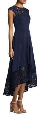 Shoshanna Cap Sleeve Lace Hi-Lo Dress