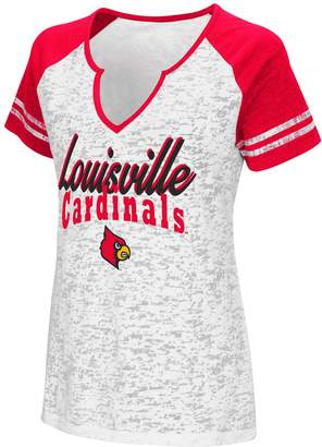 NCAA Women's Campus Heritage Louisville Cardinals Notch-Neck Raglan Tee