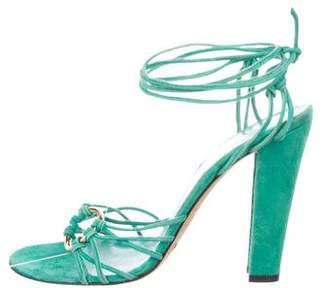 Dolce & Gabbana Suede Multistrap Sandals