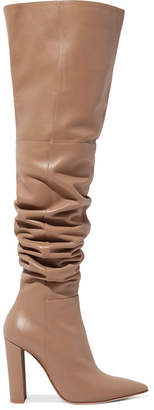 Gianvito Rossi 100 Leather Over-the-knee Boots - Sand