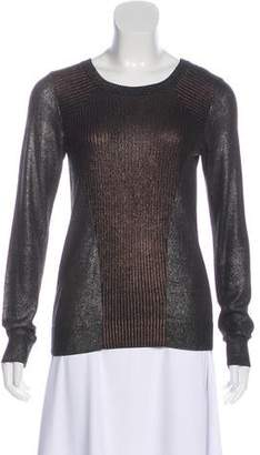 AllSaints Metallic Rib Knit Sweater