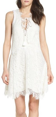 Women's Adelyn Rae Lace Shift Dress $138 thestylecure.com