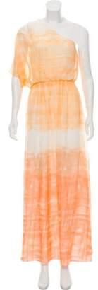 Alice + Olivia Silk Maxi Dress Orange Silk Maxi Dress