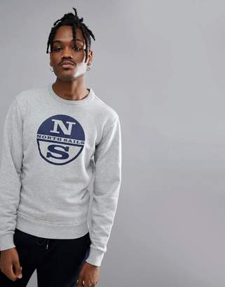North Sails Lowell Logo Sweat In Gray