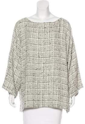 eskandar Oversize Tweed Top