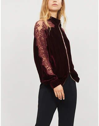 Stella McCartney Lace and velvet bomber jacket
