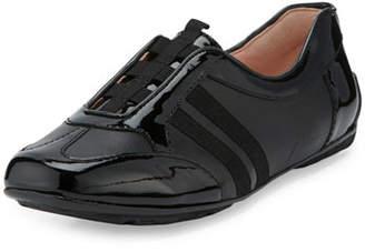 Taryn Rose Caya Patent Slip-On Sneaker, Black $150 thestylecure.com
