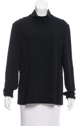 Calvin Klein Collection Mock Neck Long Sleeve Top
