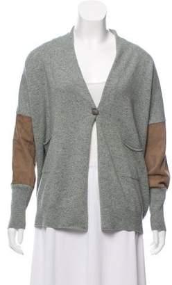 Fabiana Filippi Leather-Accented Wool Sweater