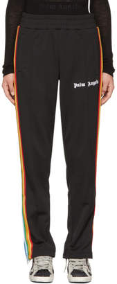 Palm Angels Black Rainbow Track Pants