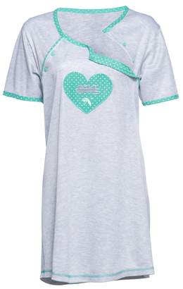 Happy Mama Boutique Happy Mama. Womens Maternity Nursing Breastfeeding Nightdress Shirt Gown. 893p (, US 4/6, S)