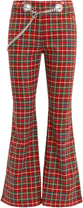 Morgan Miaou Plaid Pants
