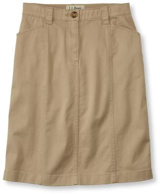 L.L. Bean L.L.Bean Easy-Stretch Skirt, Twill