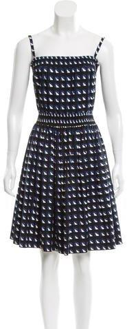 pradaPrada Geometric Print Knee-Length Dress