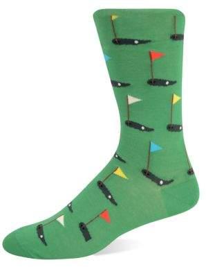 Hot Sox Golf Tee Knit Socks
