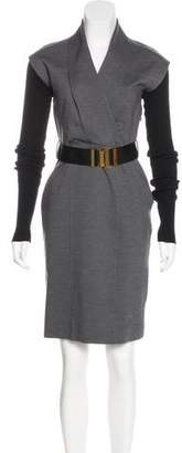 Gucci Belted Wool Dress