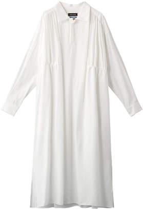 メゾン スペシャル ギャザーロングシャツドレス