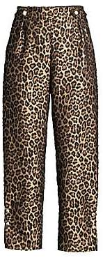 Mother of Pearl Women's Linnie Leopard Print Jacquard Pants