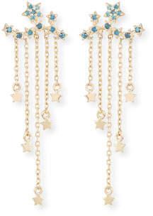 Stevie Wren 14k Yellow Gold Diamond Star Ear Climber Earrings