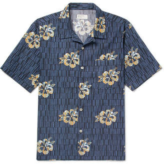 Universal Works Camp-Collar Printed Cotton Shirt