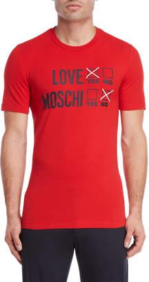 Love Moschino Vote Love Logo Tee