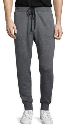 Neiman Marcus Drawstring Jogger Sweatpants, Gray $345 thestylecure.com
