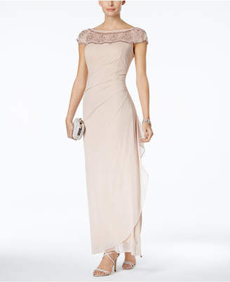 MSK Embellished Ruched Cascade Gown $109 thestylecure.com