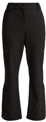 Proenza Schouler Kick Flare Cropped Wool Blend Trousers - Womens - Black