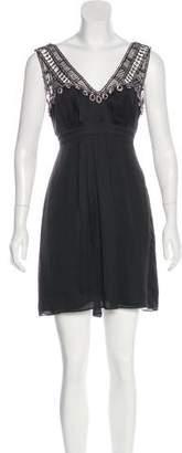 Temperley London Embellished Sleeveless Mini Dress