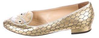 Charlotte Olympia Metallic Such A Hoot Loafers