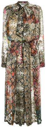 Preen by Thornton Bregazzi snakeskin print midi dress