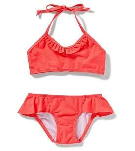 Sunseeker Textured Frill Halter Bikini Hip Frill Pant