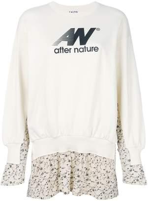 Aalto layered floral sweatshirt