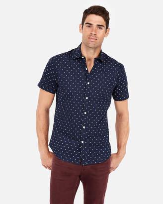 Express Slim Geo Short Sleeve Shirt