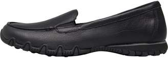 c78bf82a282f Skechers Womens Relaxed Fit Bikers Lamb Slip On Shoes Black