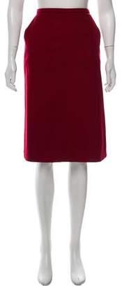 Max Mara Virgin Wool Knee-Length Skirt