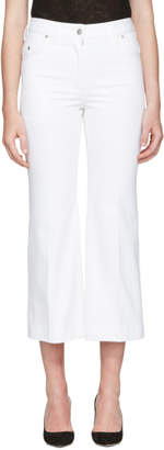Calvin Klein Collection White Fray Bis Jeans