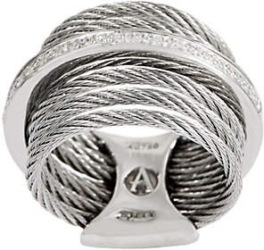 Alor Cable Stainless Steel & DiamondMulti-Row Ring